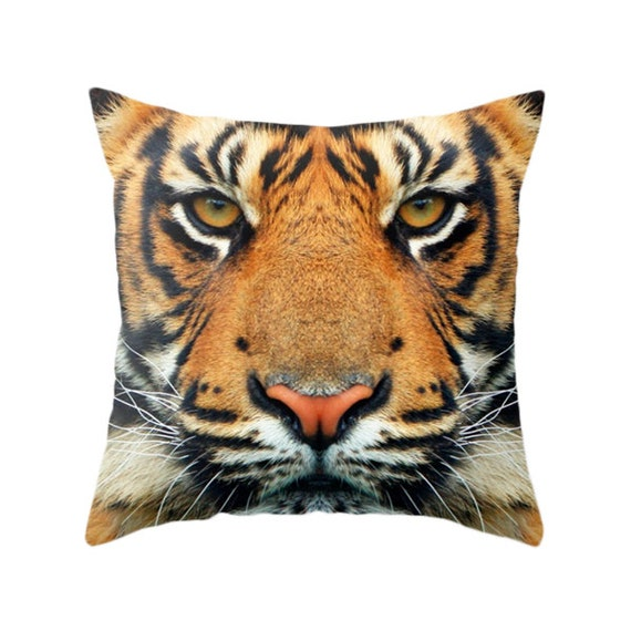 Zoo Animal Pillows : Tiger Pillow Zoo Pillow Animal Pillow Wild Portrait Animal