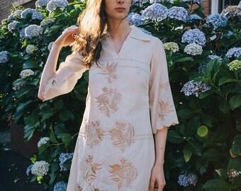 Vintage Embroidered Dress ~ On Sale