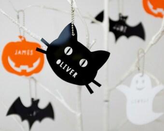 Acrylic Halloween Decorations - Personalised Halloween Decorations - Halloween Gift - Spooky Gift