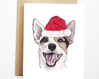 Christmas Card - Jack Russell Terrier, Dog Christmas Card, Cute Christmas Card, Holiday Card, Xmas Card, Seasonal Card, Christmas Card Set