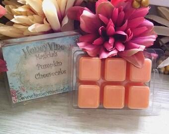 Pumpkin Cheesecake Soy Wax Clamshell Tarts Fall Autumn Mabon