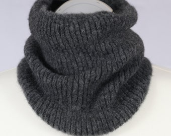 Yak Merino Wool Men Neck Warmer Gaiter Handmade Snood by Alevig Made in Estonia Perfect Christmas Gift Unisex