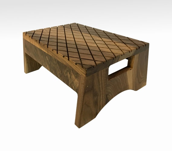 Step Stool In Solid Walnut By Candlewood Furniture Wooden