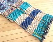 Vintage Hmong Embroidery Panel, Tribal fabric, Folk art textile, floral, mandela, Miao, Rare Hmong Textile, DIY textile, tapestry, birds