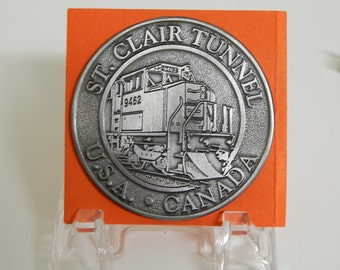 St Clair Tunnel Commemorative Pewter Medallion
