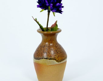 Little Brown Flower Bud Vase