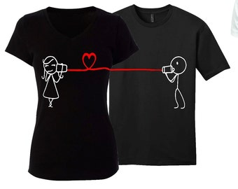 Couples T-shirt Set/ Valentines Couples T-shirt Set/ Boyfriend Girlfriend T-shirt Set