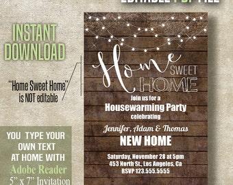 housewarming invites | etsy, Party invitations