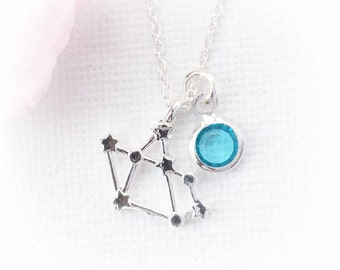 Sagittarius Zodiac Sign Astrology Necklace,constellation jewelry, birthstone necklace,star sign ,November and December birthday/SSB011