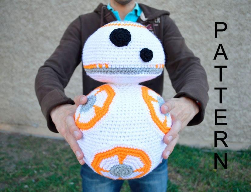 Free Star Wars Bb 8 Crochet Pattern : 12 in. BB8 Droid Inspired CROCHET PATTERN Star by ...