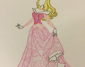 Aurora Doodle Print