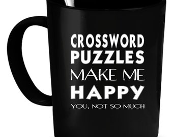 Crossword puzzles Coffee Mug 11 oz. Perfect Gift for Your Dad, Mom, Boyfriend, Girlfriend, or Friend - Proudly Made in the USA!