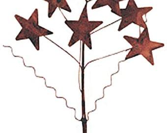 Rusty Tin Star Spray, Rusty Metal Star, Primitive Star Pick, Craft Supplies, Rustic Stars