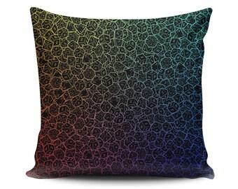 Dice Pillow, RPG Pillow, Dungeons&Dragons Pillow, Fantasy, Geek pillow, Nerd, PIllow Gamer pillow