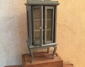 Miniature Hutch, Dollhouse Furniture, Miniatures, French Country Miniatures, Miniature Cupboard