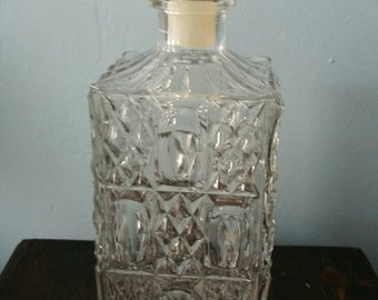 Great vintage liquor decanter! Whiskey bottle bar mancave