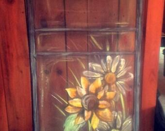 Hand painted screen door.