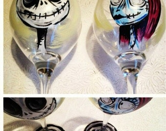 Hand painted glasses.