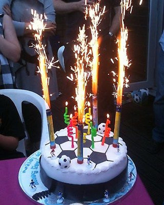 6 fountain candles cake big birthday flame candles 6 pack on birthday cake fountain candles