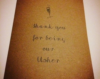Thankyou for being our Usher