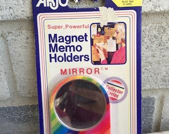 1986 Vintage Arjon Magnet Mirror, Rainbow magnet, Arjon Magnet Memo holder, Magnet Memo Holder