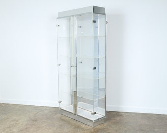 Lucite And Glass Cabinet