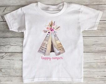 Happy Camper Teepee Shirt
