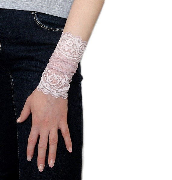 Items similar to fingerless lace gloves wrist lace cuff for Lace glove tattoo