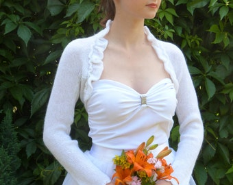 Bridal Bolero Shrug,White Wedding Bolero, White Bolero Shrug