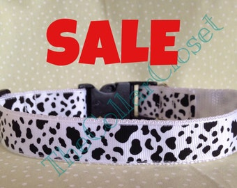Dalmatian Print/ Cow Print Dog Collar