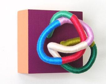 Violet + Peach - Double-Color Tiny Monster Sculpture