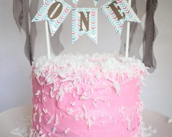 "Wild One Cake Bunting/ ""One"" Cake Bunting/ Wild One Cake Topper"
