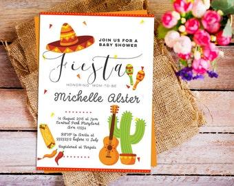 Mexican Fiesta Baby Shower Invitation, Fiesta Baby Shower, Mexican Baby  Shower, Mexican Fiesta