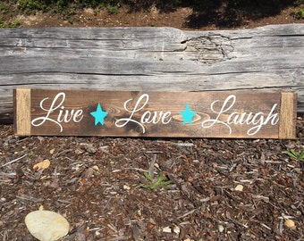 Live Love Laugh Sign - Rustic Signs - Rustic Wood Signs - Rustic Wall Decor - Rustic Home Decor - Rustic Decor - Rustic Wedding Sign