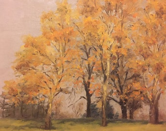 Original oil painting by Evelyn Twomey Schule Bucks County Pa Artist 1945