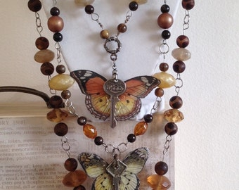 Autumn Butterflies necklace