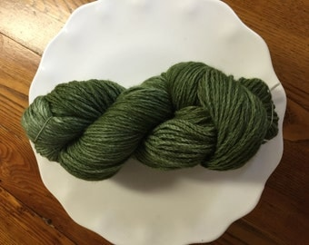 Dark Green Kettle Dyed Wool Yarn