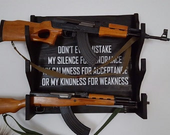 Custom Gun Rack With Saying