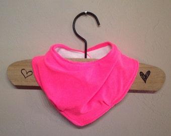 Bandana Drool Bib- neon pink