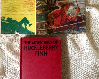 Rare 1918 The ADVENTURES Of HUCKLEBERRY FINN