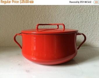 ON SALE Dansk Kobenstyle cast iron red enamel dutch oven with lid
