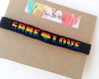 Same Love bracelet / Gay pride bracelet / LGBT bracelet / Pride bracelet / Gay jewelry / Same love friendship bracelet / Rainbow bracelet