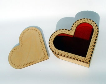 Heart Shaped Gift or Jewelery Box
