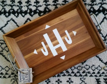 Personalized Initial Serving Tray - Made to Order