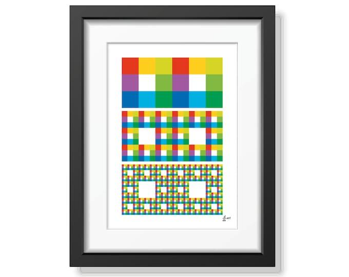 Fractal rectangles 03 [mathematical abstract art print, unframed] A4/A3 sizes