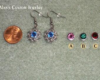 Swarovski Rivoli-6mm Crystal Earrings