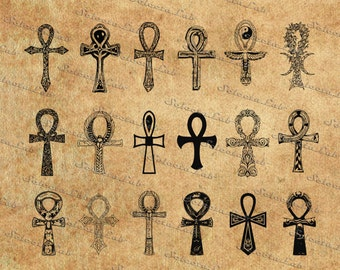 Digital SVG PNG ankh hieroglyph, key of life, key of Nile, crux ansata, vector, clipart, silhouette, instant download