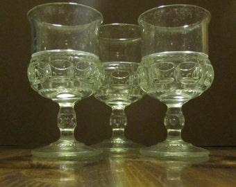 Set of 3 Kings Crown Goblets