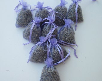10 Dried Lavender Sachets Bags Pillows Pouches Wardrobe Drawer Aromatic Repel Calming Air Fresh Sleep Aid