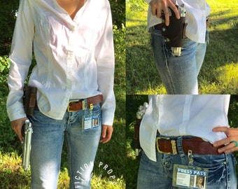 Uncharted Elena Fisher Gun Holster and Press Pass